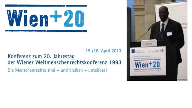 Konferenz Wien+20 am 15.+16.04.2013
